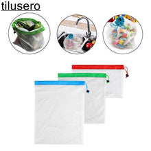 Load image into Gallery viewer, 3pcs Reusable Mesh Produce Bags - CalicoMarket