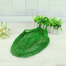 Load image into Gallery viewer, Mesh Net Shopping Bag Reusable Grocery Bag Eco Friendly Woven Cotton Bag Totes Fruit Storage Handbag Casual Handbag One Piece - CalicoMarket