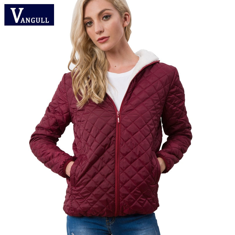 Vangull New Spring Autumn Women's Clothing Hooded Fleece Basic Jacket Long Sleeve female Coats Short Zipper Casual Outerwear - CalicoMarket