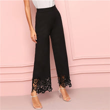Load image into Gallery viewer, Wide Leg Pants with Cut Out Flower Design - CalicoMarket