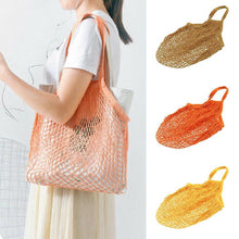 Load image into Gallery viewer, Mesh Shopping Bag Reusable String Fruit Storage Handbag Totes Women Eco-friendly Shopping Net Woven Bag Shop Grocery Tote Bag - CalicoMarket