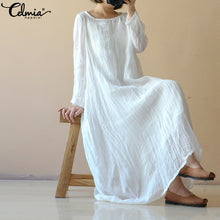 Load image into Gallery viewer, Celmia  Linen Dress - CalicoMarket