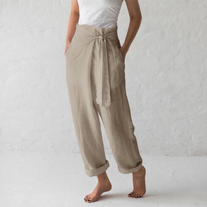 Celmia Women Retro Trousers 2019 Summer Wide Leg Pants Casual Loose Harem Pants Pockets Long Pantalon Femme Plus Size Palazzo - CalicoMarket