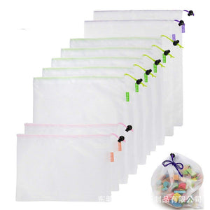 1PC Reusable Mesh Shopping Bags Washable Eco Friendly Shopper Bag Grocery Supermarket Fruit Vegetable Toys Sundries Storage Pack - CalicoMarket