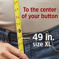 HIKERS button fly suspenders sizing - measure to the center of your button