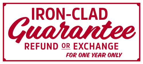 HIKERS® Iron Clad Guarantee - One Year!