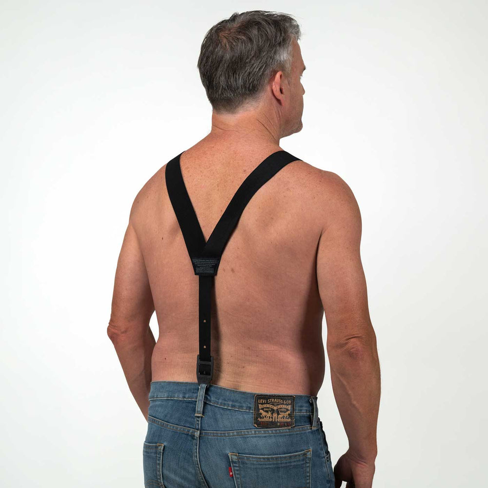 HIKERS® Button Fly Suspenders - Black