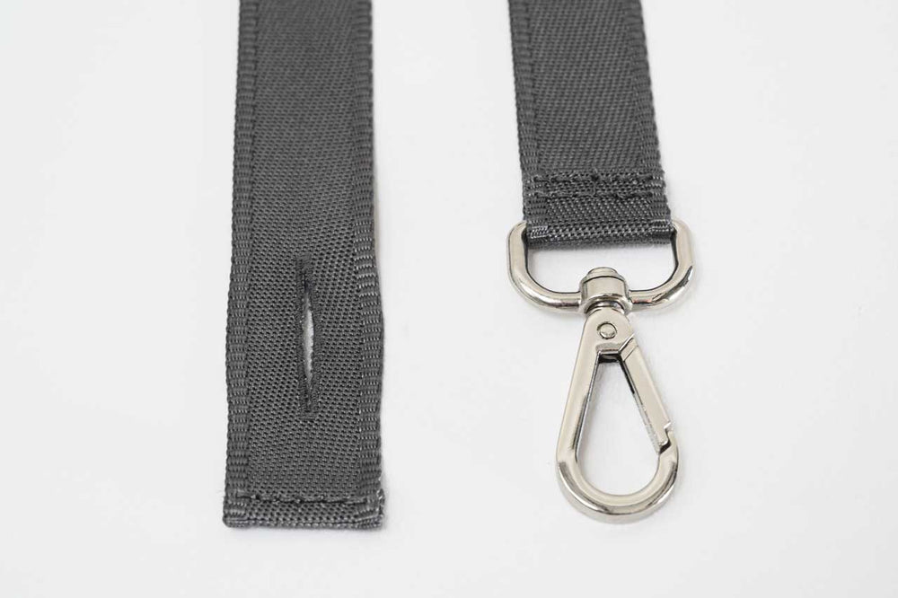 Fasteners closeup of HIKERS suspenders for men and women in gray