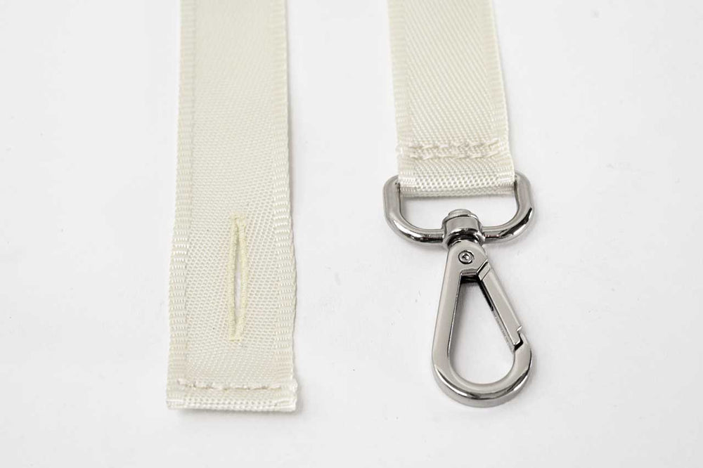 Fasteners closeup of HIKERS suspenders for men and women in off white