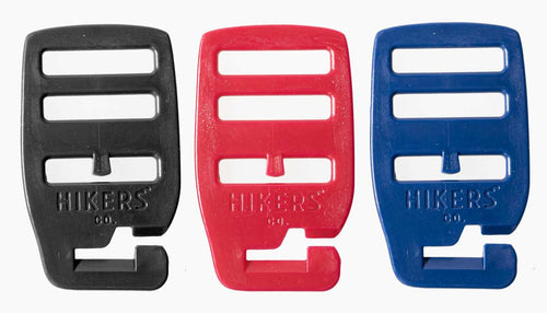 HIKERS® Hooks come in 3 new colors: black, red, and blue.