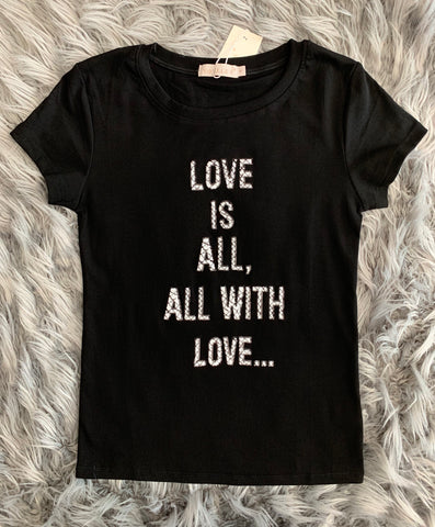 Love Is All Sequin Shirt
