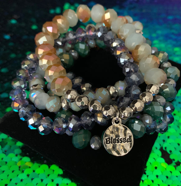Beaded Bracelet Set - Blessed