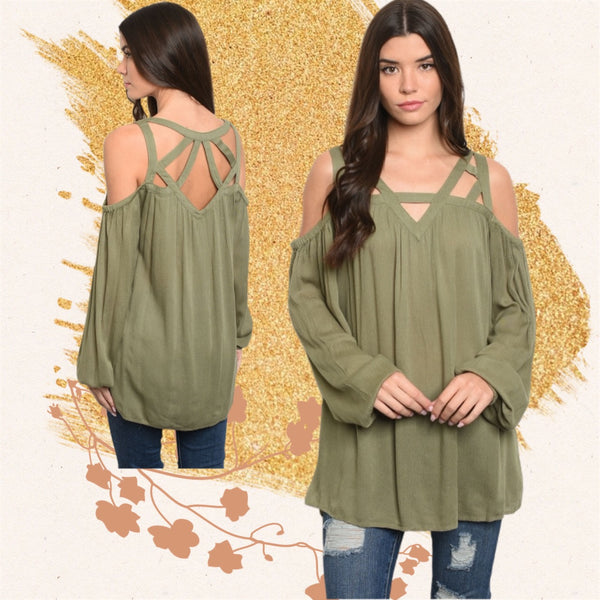 Strapy Detail Olive Tunic