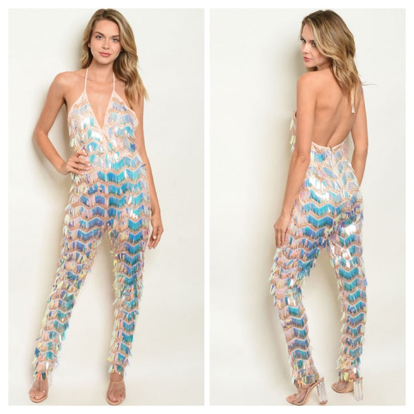 Sequin Evening Jumpsuit