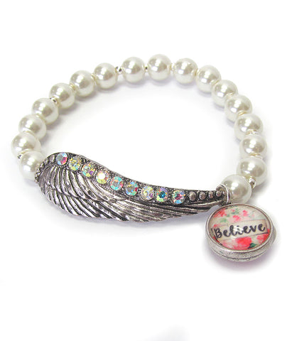 Inspirational Beaded Stretch Bracelet