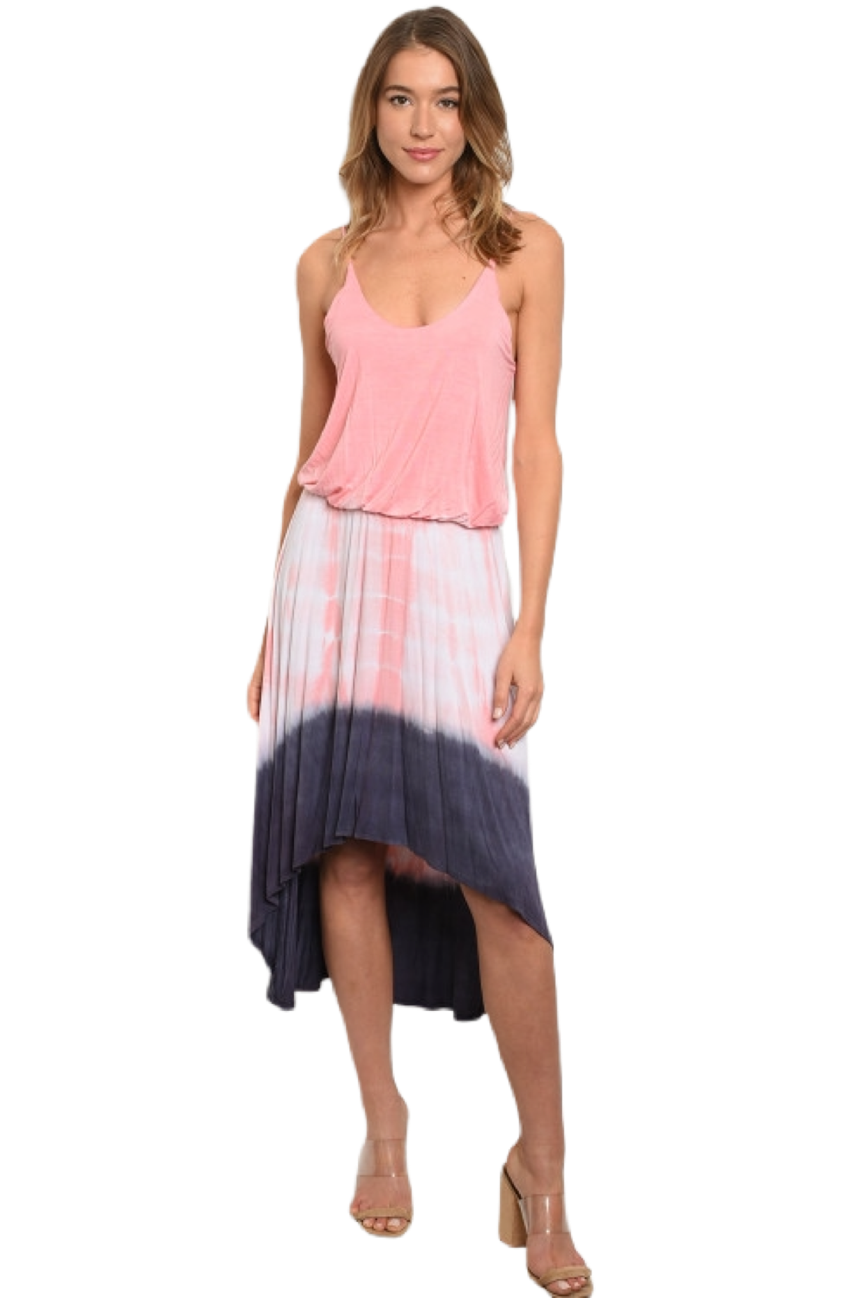 Tie Dye Hi Low Maxi Dress