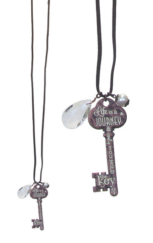 Life Is A Journey Key Long Necklace