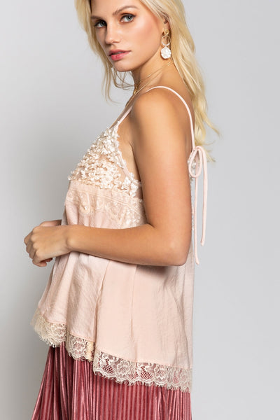 Lace Floral Cami Top