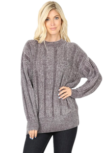 Cable Knit Chenille Sweater