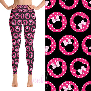 Custom Designed Leggings - Mouse Ears - 3 IN STOCK