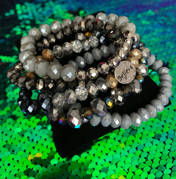 Beaded Bracelet Set - Believe