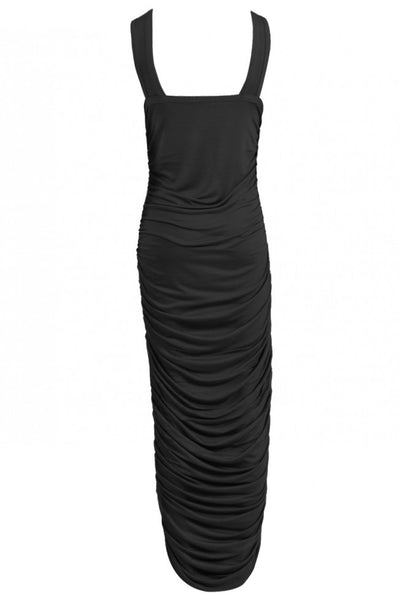Ruched Black Maxi Dress - Beautifully You Boutique