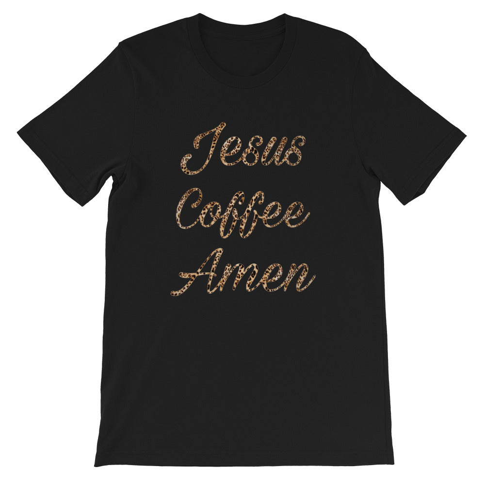 """Jesus Coffee Amen"" Graphic T-Shirt"