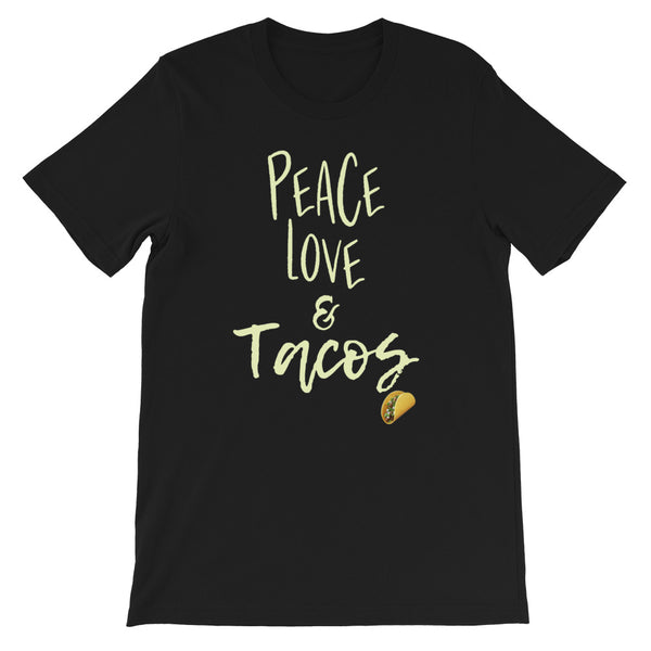 """Peace Love & Tacos"" Graphic T-Shirt"