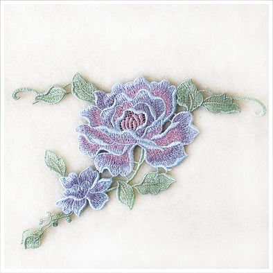 Blue Roses Applique