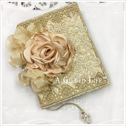 Small Embellished Journal ~ Cafe Rose