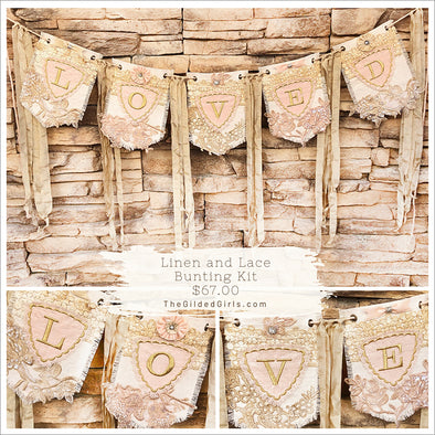 Linen and Lace Bunting Kit