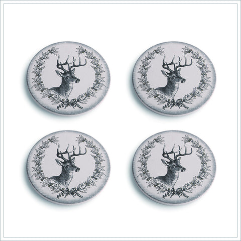 Deer with Laurel Coasters