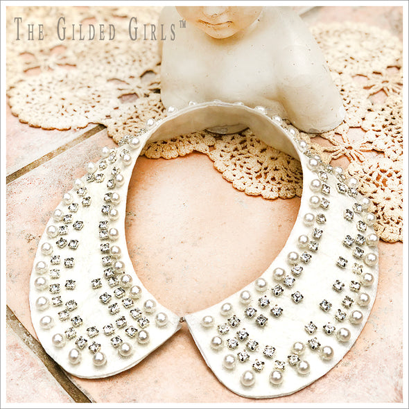 Vintage Pearl and Rhinestone Collar