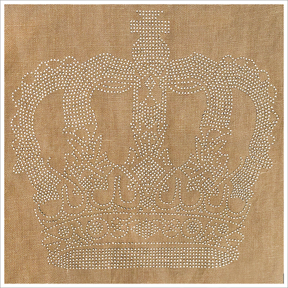 Rhinestone Crown Applique Panel