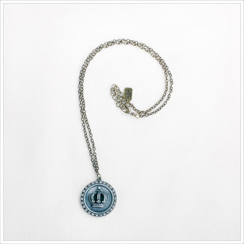 Crown Medallion Necklace