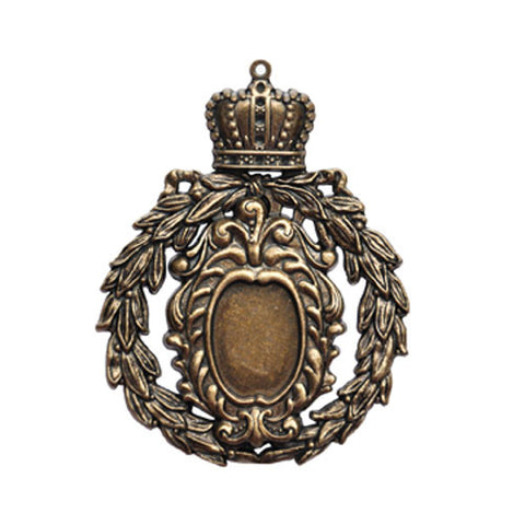 Crowned Medallion Pendant