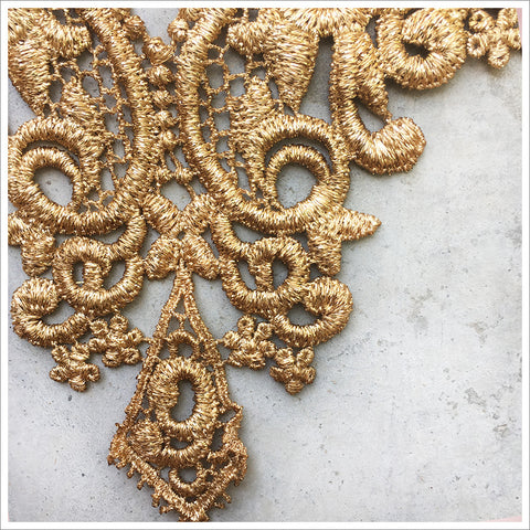 Metallic Gold Bodice Applique