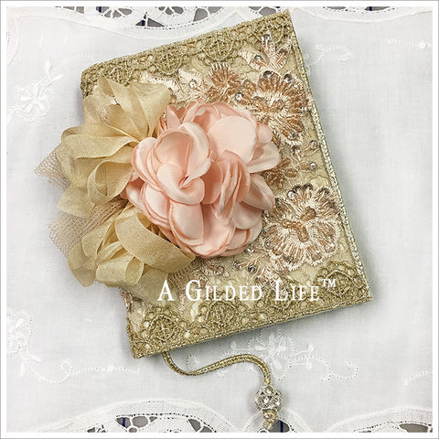 Small Embellished Journal ~ Pink Rose