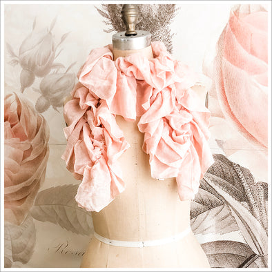 Pink Ruffled Scarf