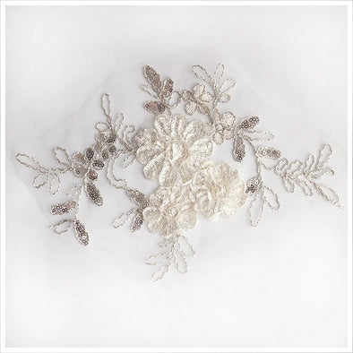 White Floral Applique