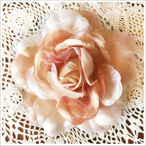 Satin and Organza Rose
