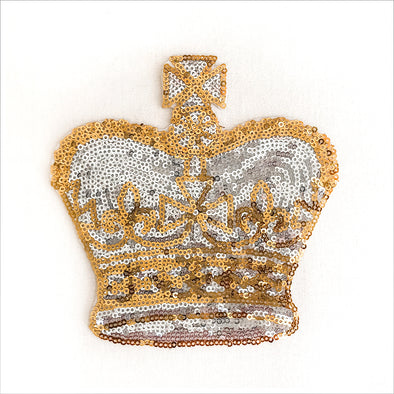Sequin Crown Applique