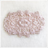 Oval Floral Applique