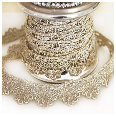 Tarnished Silver Lace Trim