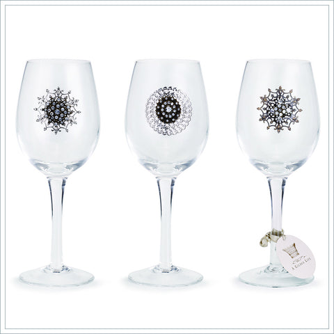 Embellished Wine Glass