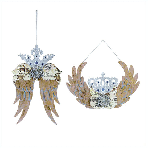 Winged Crown Ornaments