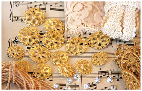 Brass Filigree Buttons