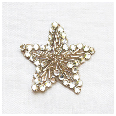 The cutest small bead and rhinestone star appliqué!