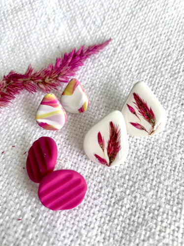 3 Pack Studs Combo Clay Earrings