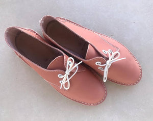 Vellies In Rose-Pink
